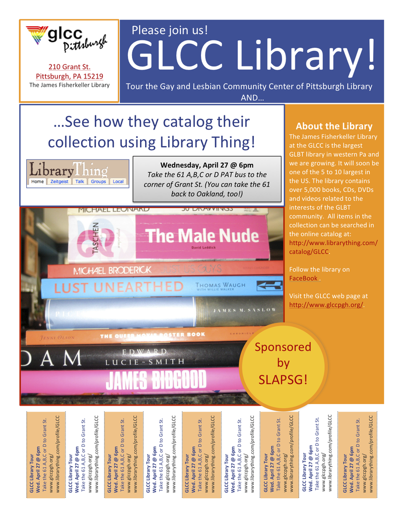 Glcc library tour flyer